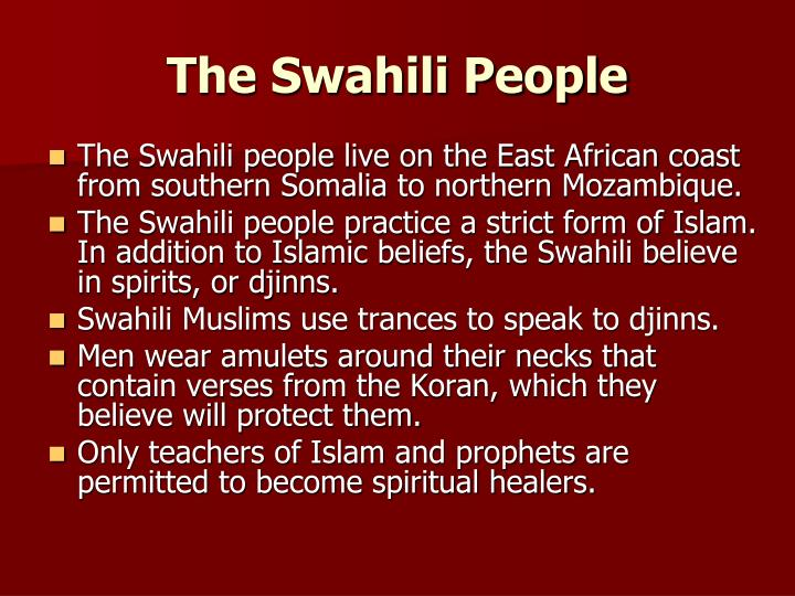 The Swahili People