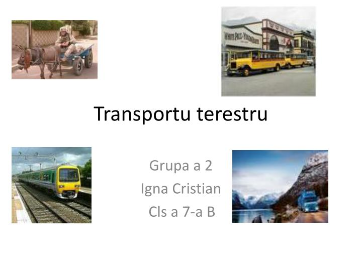Transportu terestru