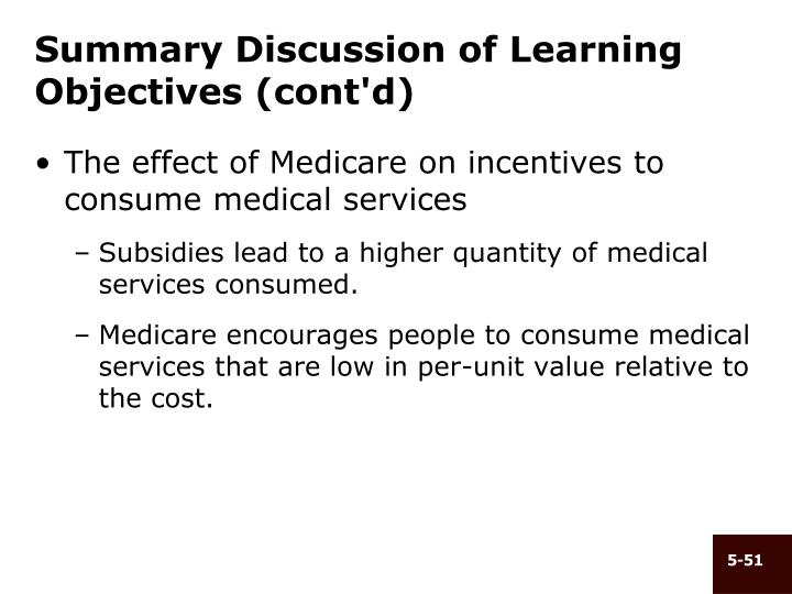 Summary Discussion of Learning Objectives (cont'd)