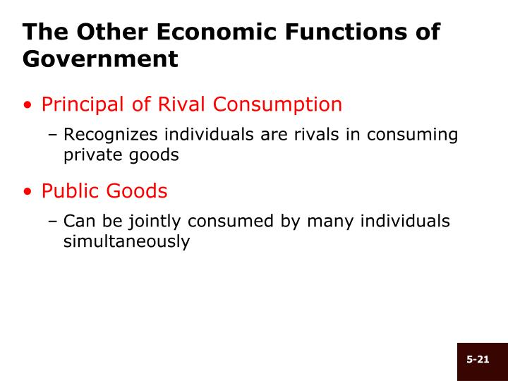 The Other Economic Functions of Government