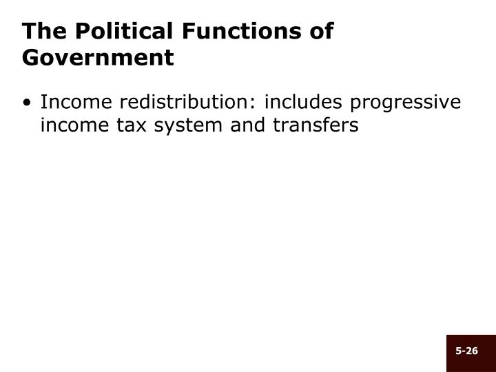 The Political Functions of Government