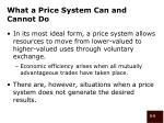 what a price system can and cannot do