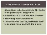 ctab survey other projects