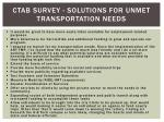 ctab survey solutions for unmet transportation needs