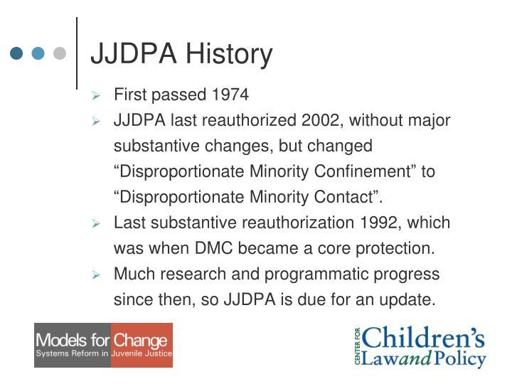 JJDPA History