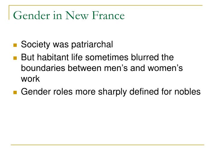 Gender in New France