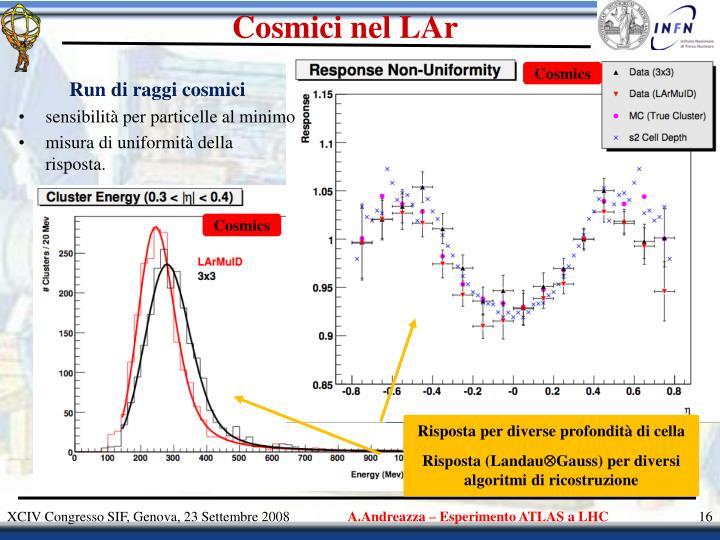 Cosmici nel LAr