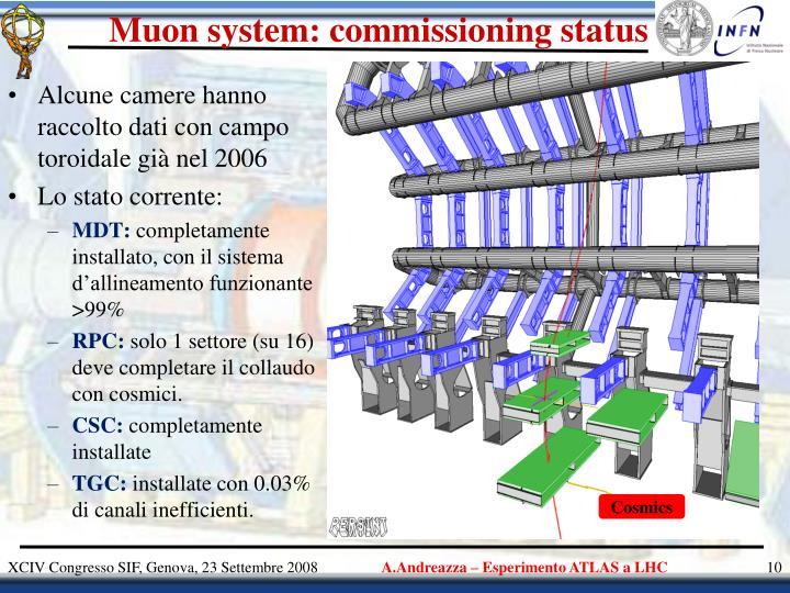 Muon system: commissioning status