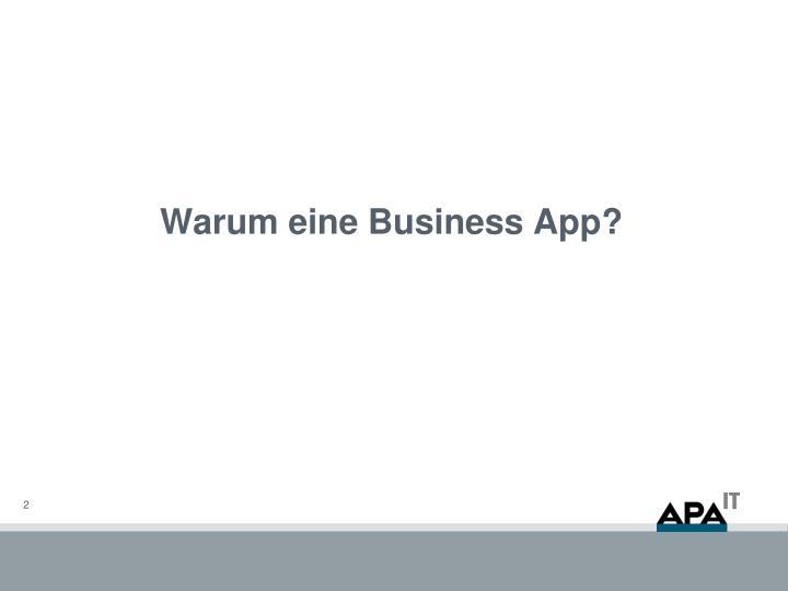 Warum eine Business App?