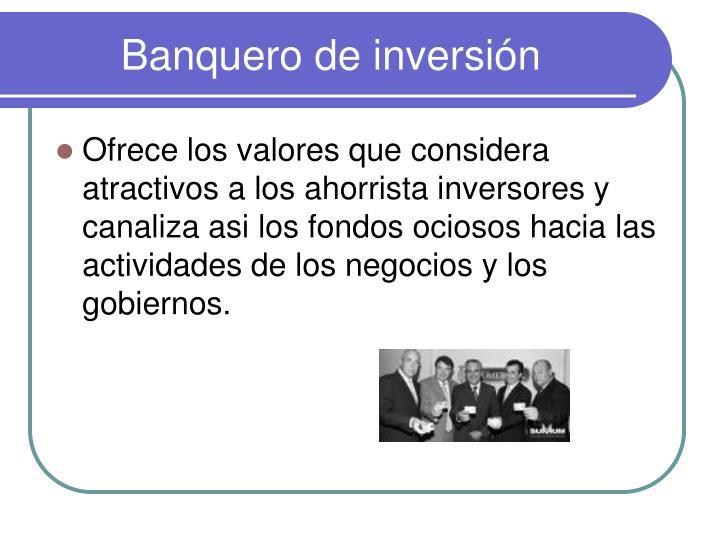 Banquero de inversión