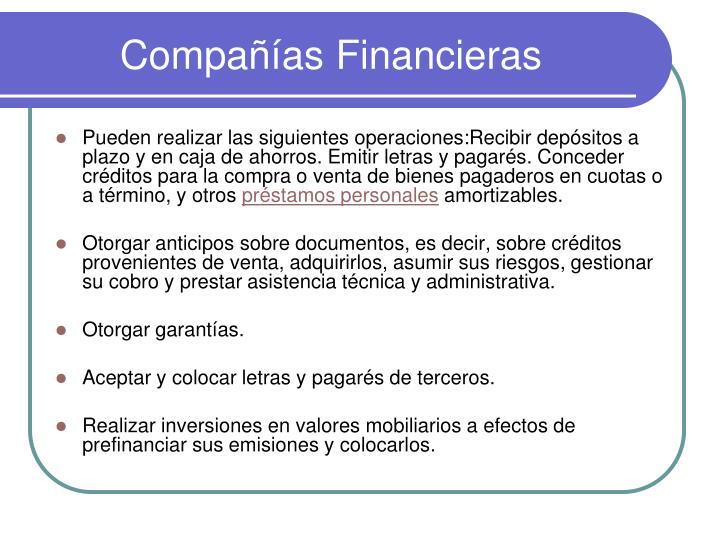 Compañías Financieras