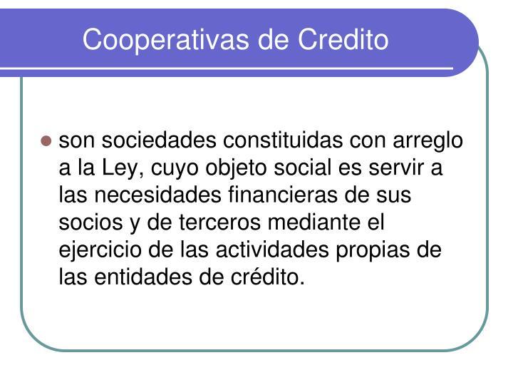 Cooperativas de Credito