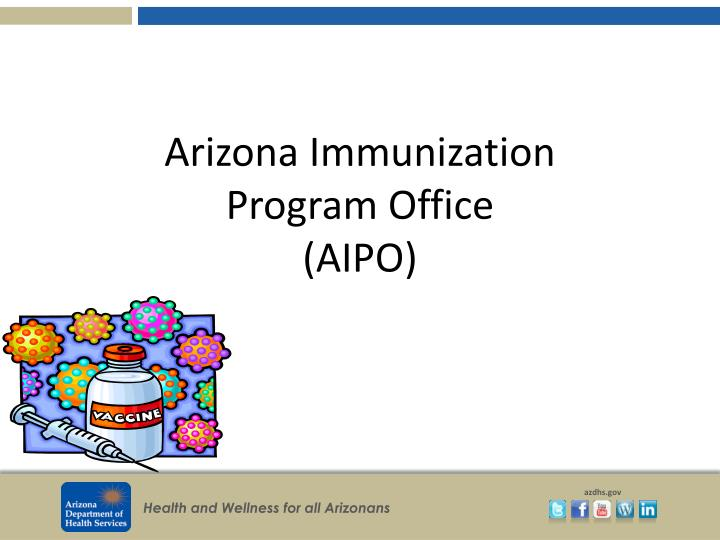 Arizona immunization program office aipo