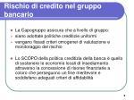 rischio di credito nel gruppo bancario