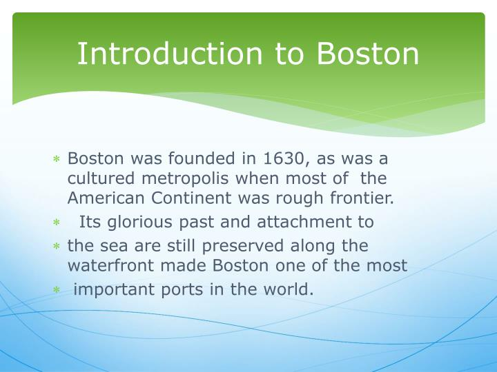 Introduction to boston