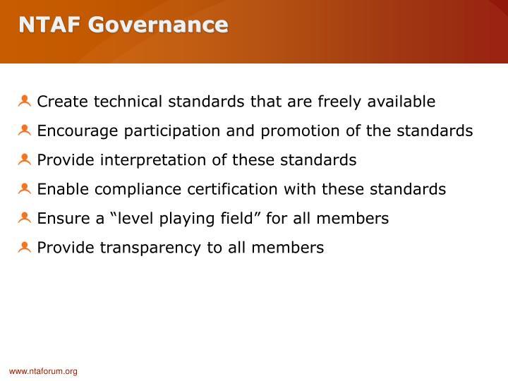 NTAF Governance