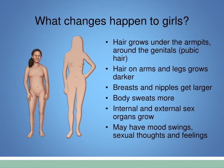 What changes happen to girls?