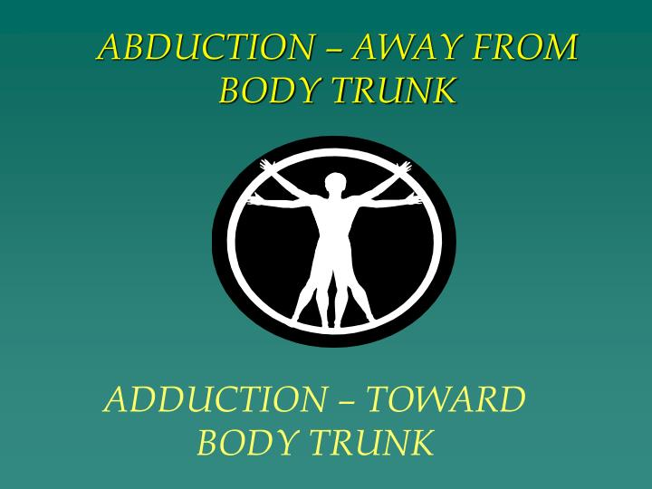 ABDUCTION – AWAY FROM BODY TRUNK