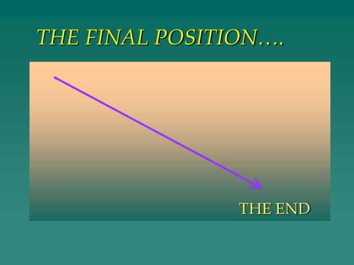 THE FINAL POSITION….