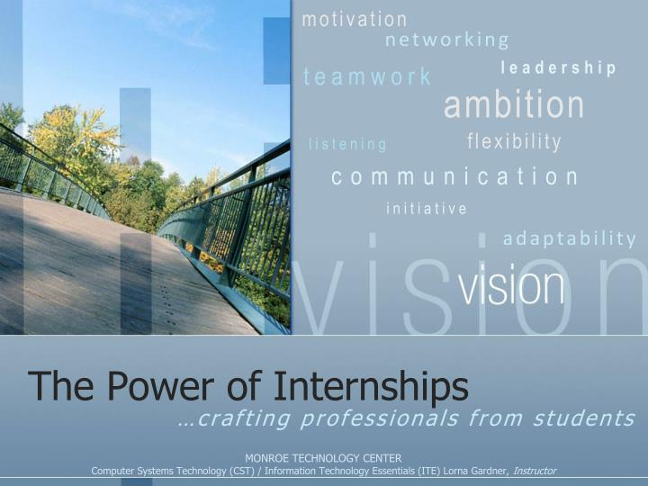 The power of internships