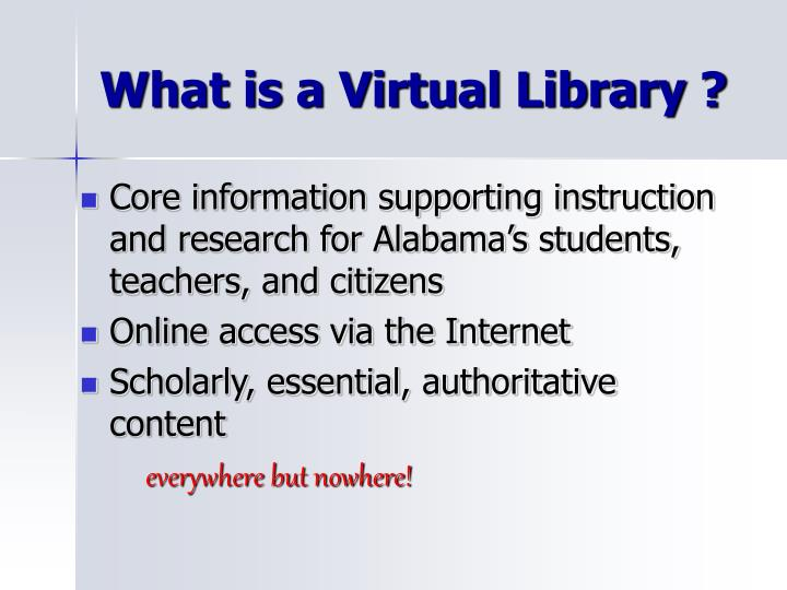 What is a virtual library