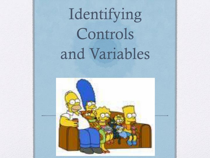 Identifying Controls