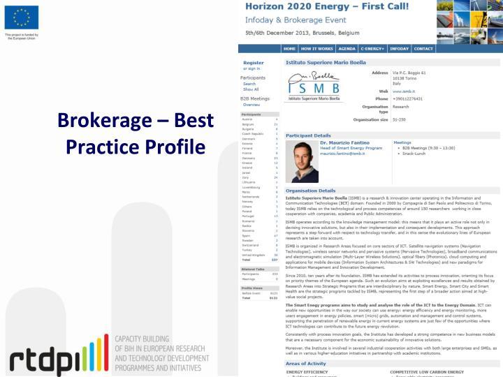 Brokerage – Best Practice Profile
