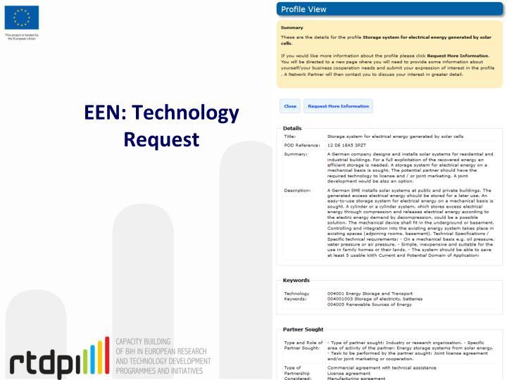 EEN: Technology Request