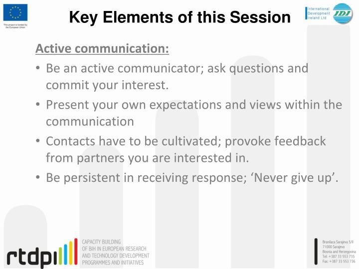 Active communication:
