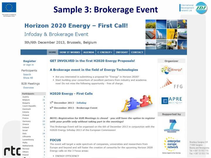 Sample 3: Brokerage