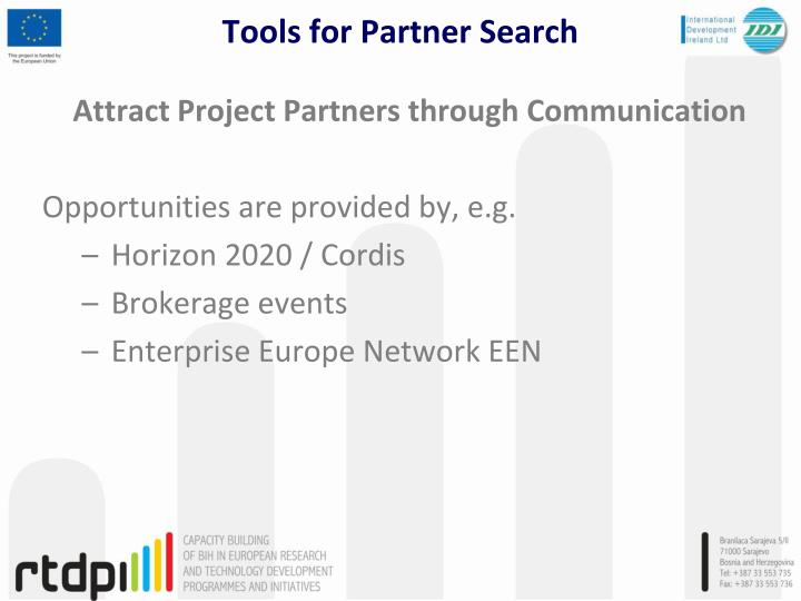 Attract Project Partners through Communication