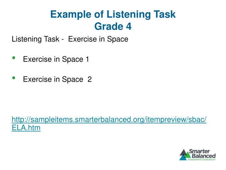 Example of Listening Task