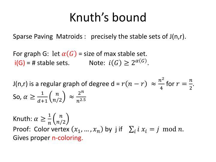 Knuth's bound