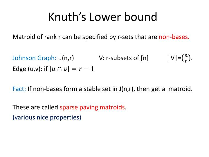 Knuth's Lower bound
