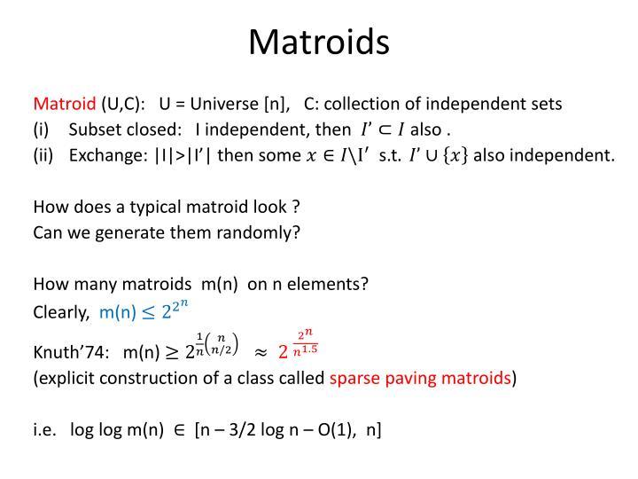 Matroids