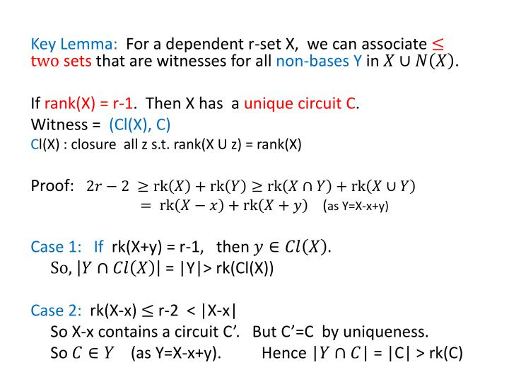 Key Lemma: