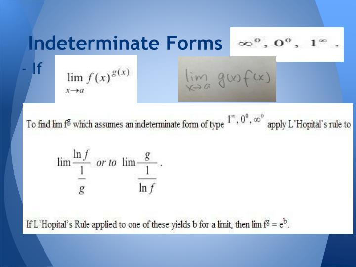 Indeterminate Forms