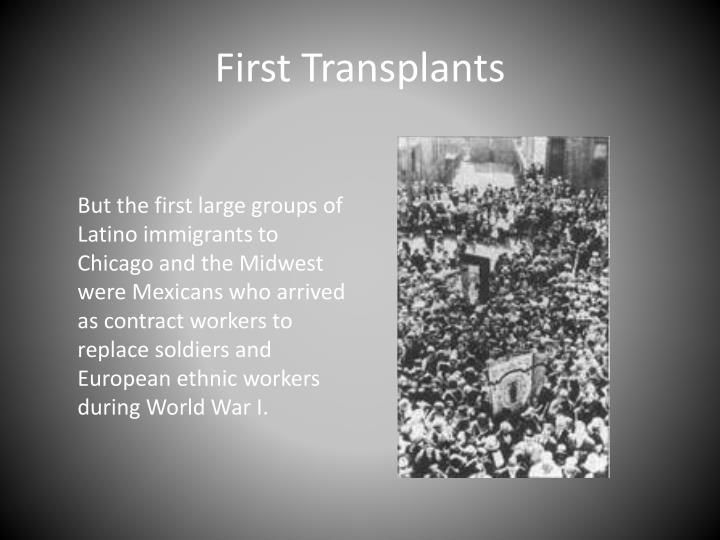 First Transplants