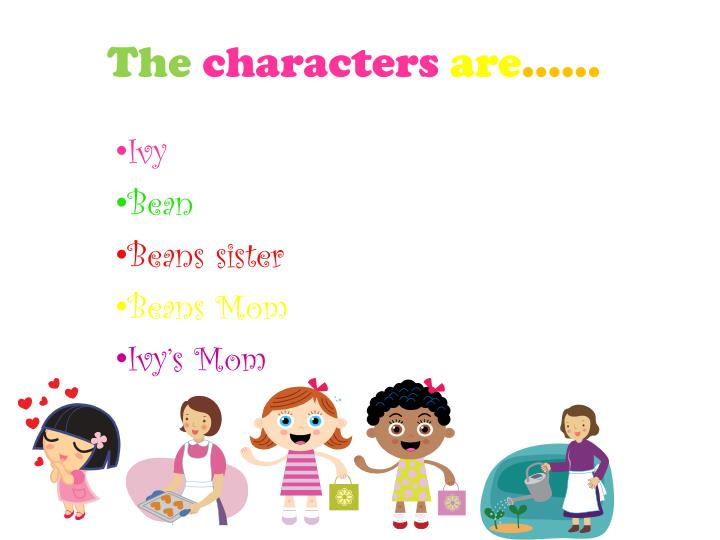 The characters are