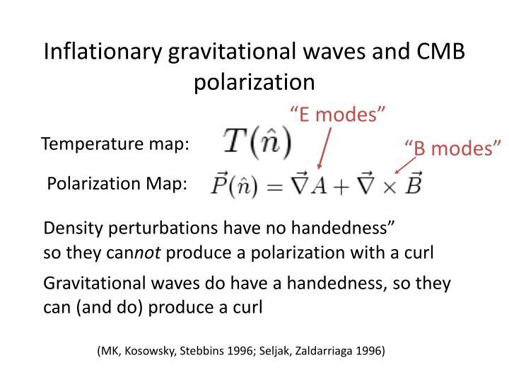 Inflationary gravitational