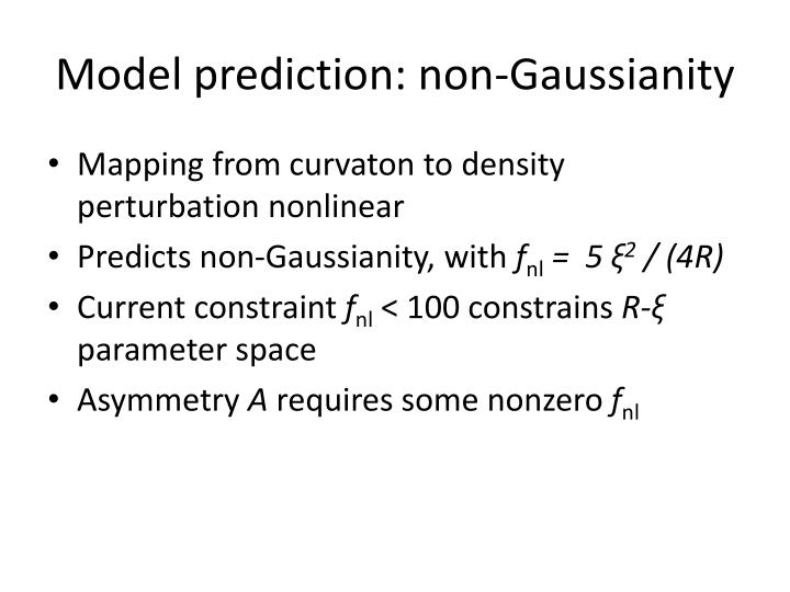 Model prediction: non-
