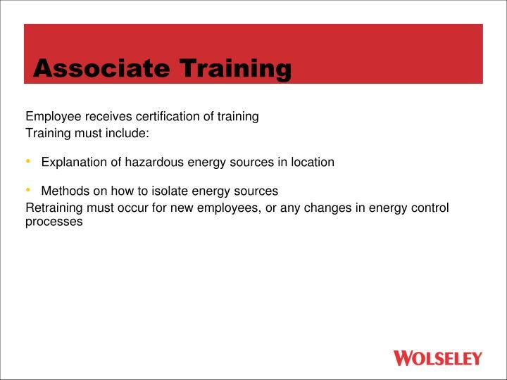 Associate Training