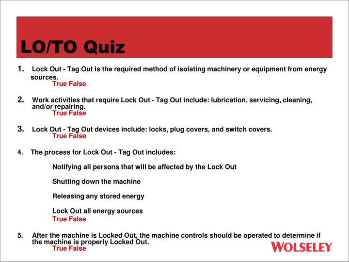LO/TO Quiz