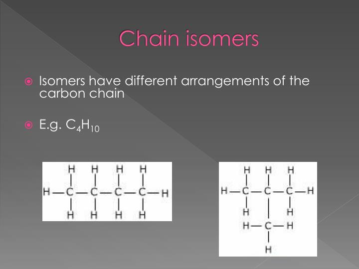 Chain isomers