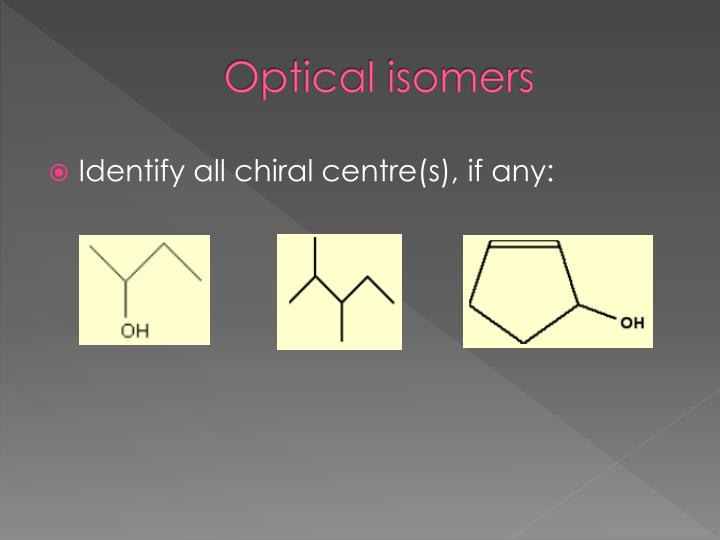 Optical isomers