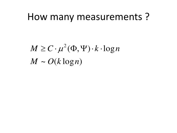 How many measurements ?
