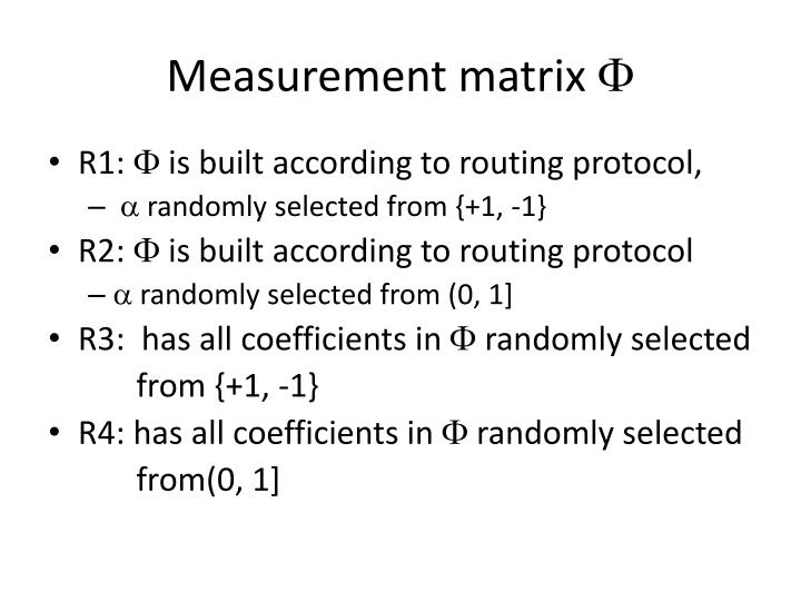 Measurement matrix