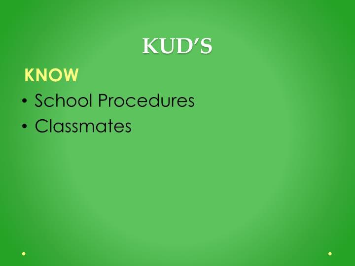 KUD'S