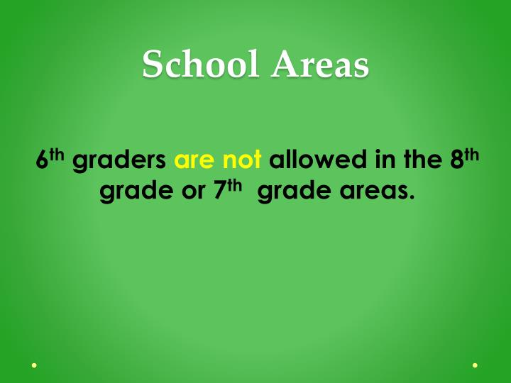 School Areas