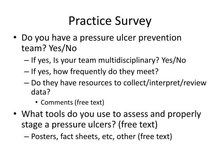 Practice Survey